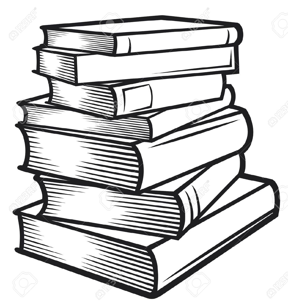 Books lined up clipart black and white black and white library Best Black And White Book Clipart #18181 - Clipartion.com black and white library