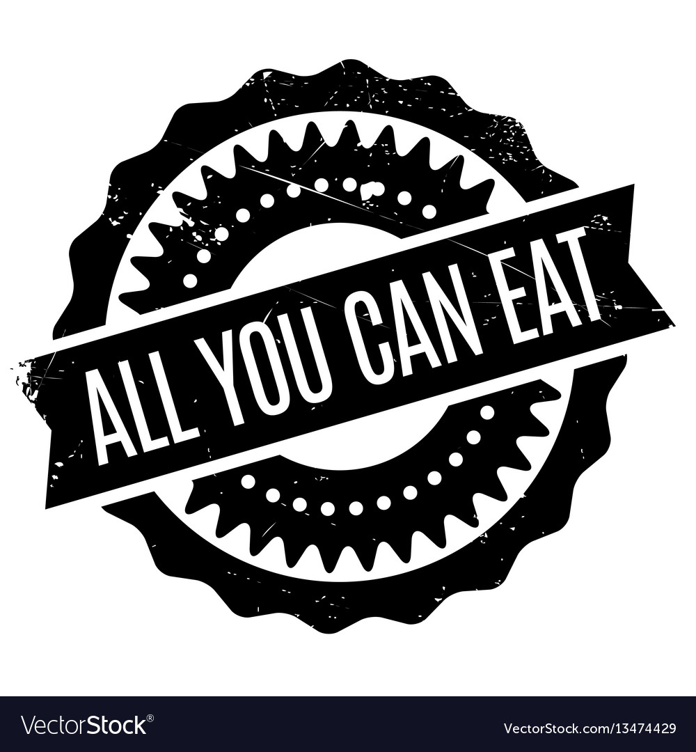 All yo can eat clipart banner transparent All you can eat rubber stamp vector image banner transparent