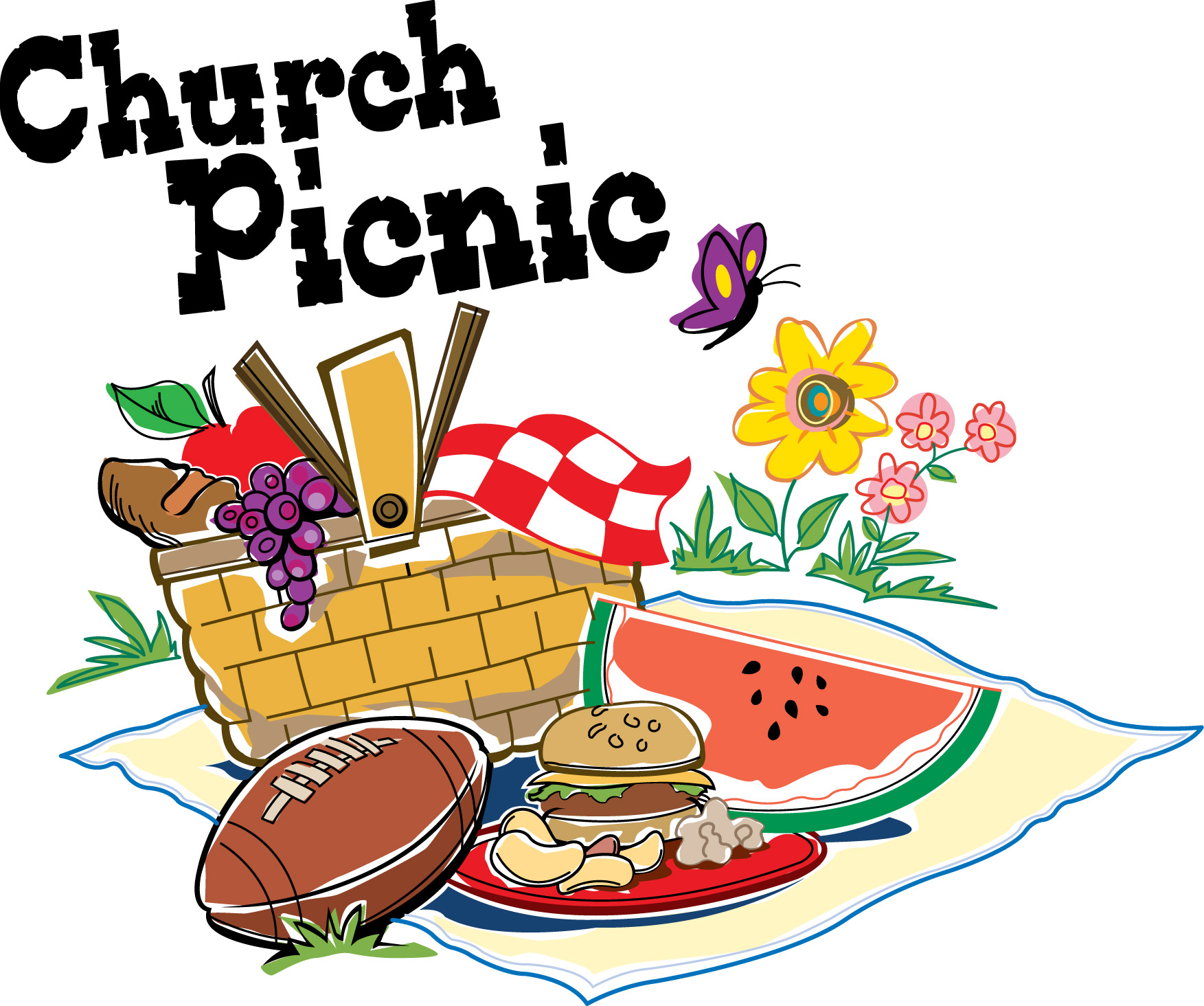 Sunday school closing program clipart black and white clip art freeuse download Best Church Picnic Clip Art #20482 - Clipartion.com clip art freeuse download