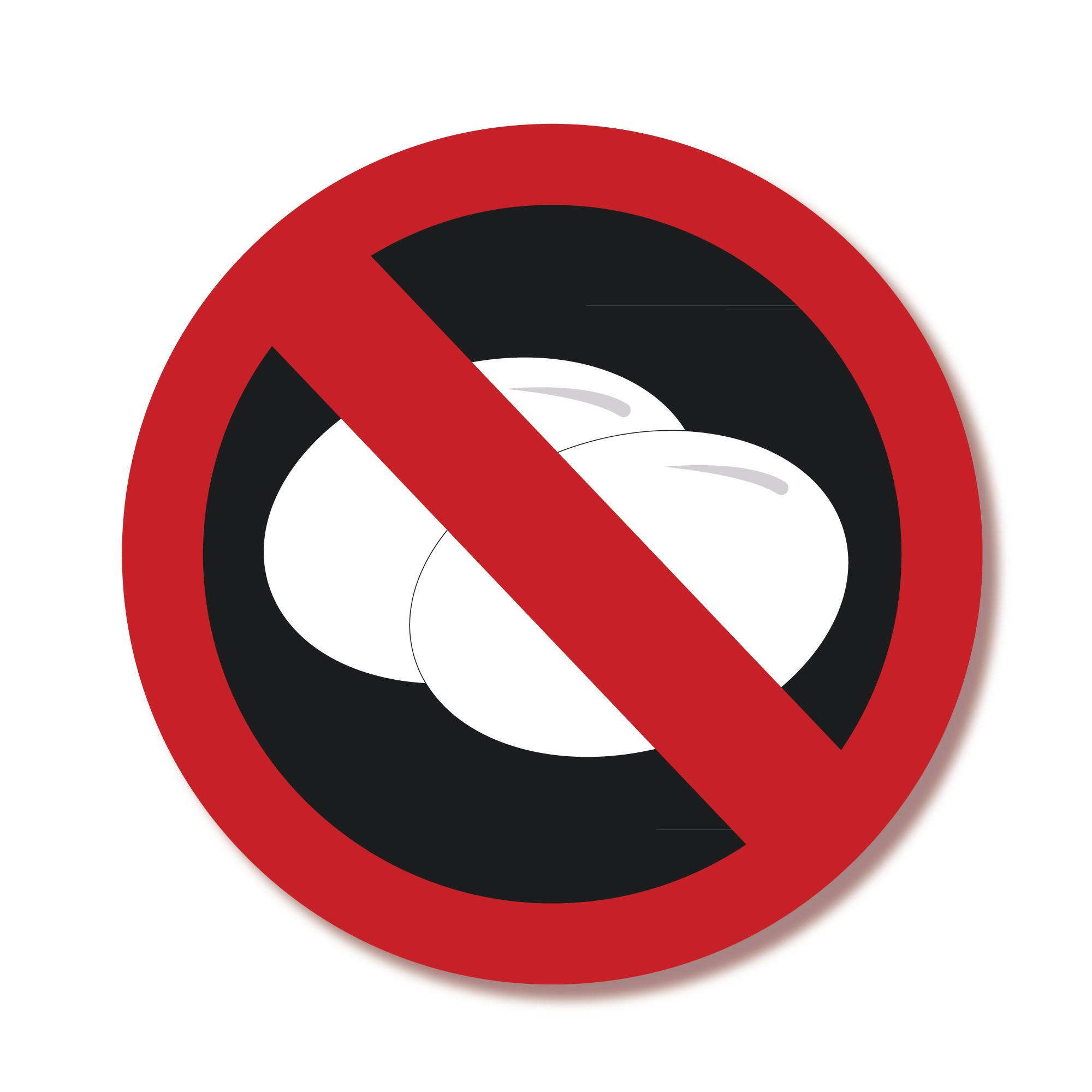 Allergy egg symbol clipart svg royalty free ALLGY-EGG Allergy Alert Labels - NO Eggs | Lovable Labels svg royalty free