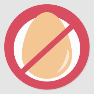 Allergy egg symbol clipart picture freeuse download Egg Free Contains No Eggs Allergy Alert Stickers picture freeuse download