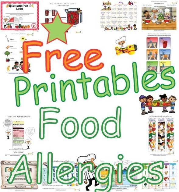 Allergy list for children clipart jpg transparent Food Allergy Worksheet for Children - Teaching children about common ... jpg transparent