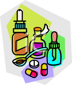Allergy medicine clipart