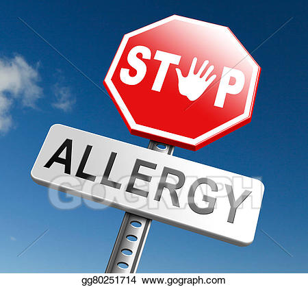 Allergy sign clipart clip royalty free download Stock Illustration - Stop allergy. Clipart Illustrations gg80251714 ... clip royalty free download