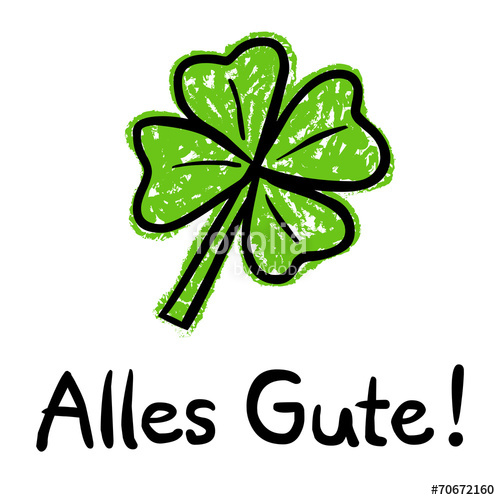 Alles gute picture free download Alles-Gute-Karte mit vierblättrigem Kleeblatt, Kreidezeichnung ... picture free download