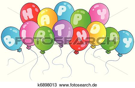 Alles gute clipart graphic free download Clipart - alles gute geburtstag, luftballone k6898013 - Suche Clip ... graphic free download