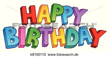 Alles gute clipart vector library library Clipart - alles gute geburtstag, grosses zeichen, 1 k8150110 ... vector library library