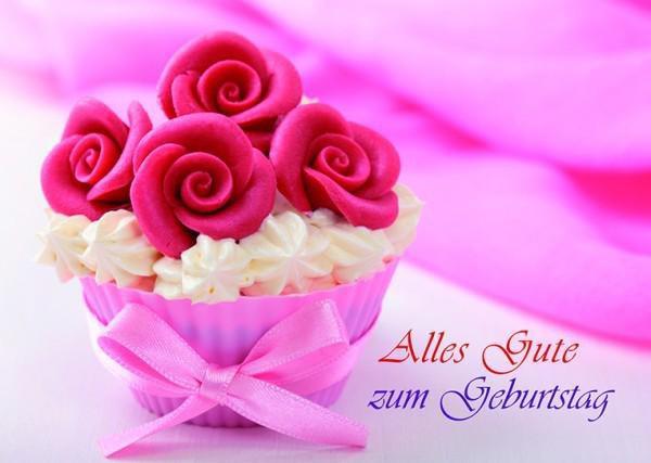 Alles gute zum geburtstag banner royalty free stock Alles Gute zum Geburtstag – Cupcake banner royalty free stock
