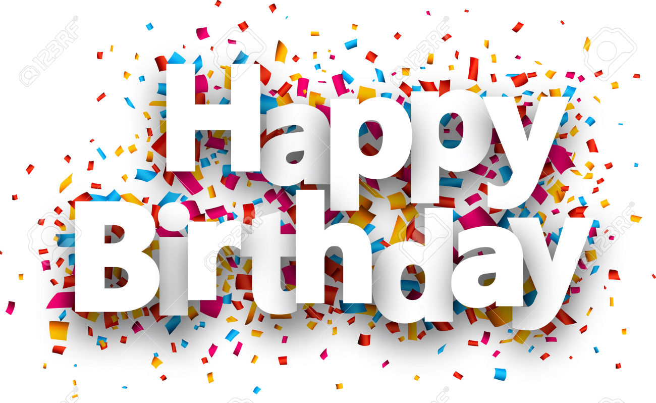 Alles gute zum geburtstag picture freeuse stock Alles Gute Zum Geburtstag Papier Schild über Konfetti. Vector ... picture freeuse stock