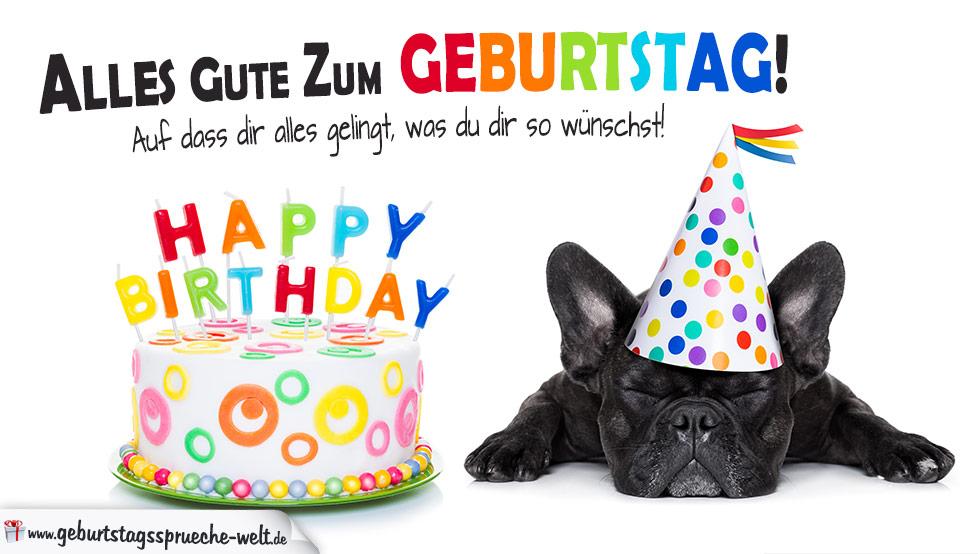 Alles gute zum geburtstag clip art transparent stock zum Geburtstag - Alles Gute mit Torte und Hund clip art transparent stock