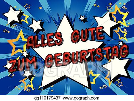 Alles gute zum geburtstag clipart banner download Vector Clipart - Alles gute zum geburtstag (happy birthday in german ... banner download