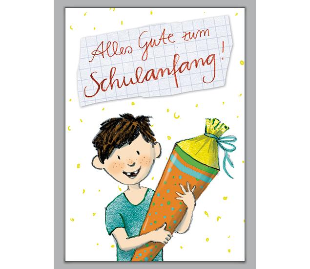 Alles gute zum schulanfang clipart jpg download Zur Einschulung mit kleinem Zahnlücken Jungen: Alles Gute zum ... jpg download
