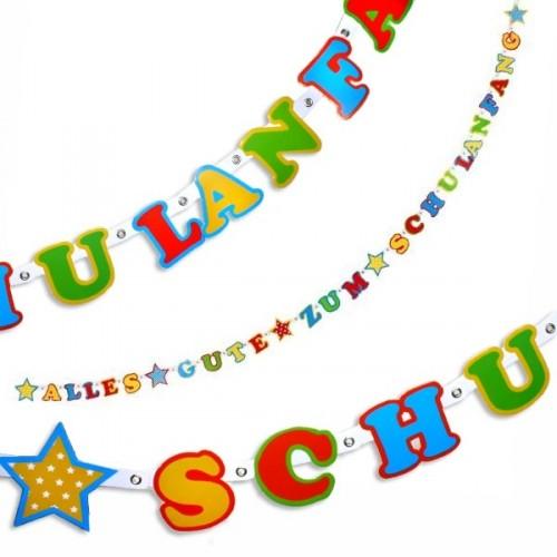 Alles gute zum schulanfang clipart graphic transparent Alles Gute zum Schulanfang - Buchstabenkette, 2,2m lang, zur ... graphic transparent