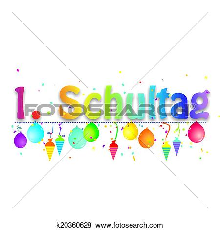 Clip Art of Alles Gute zum Schulanfang k20360628 - Search Clipart ... png royalty free library