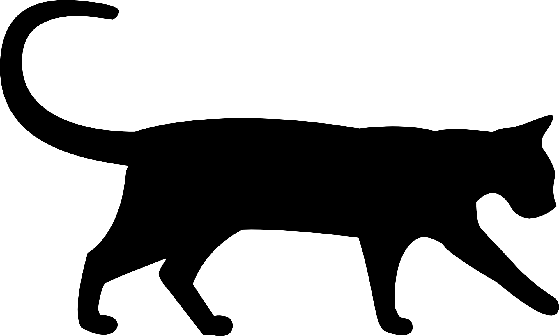 Feeding the cat clipart clip royalty free Szablon kota png czarny / Cat silhouette / public domain | Kot ... clip royalty free