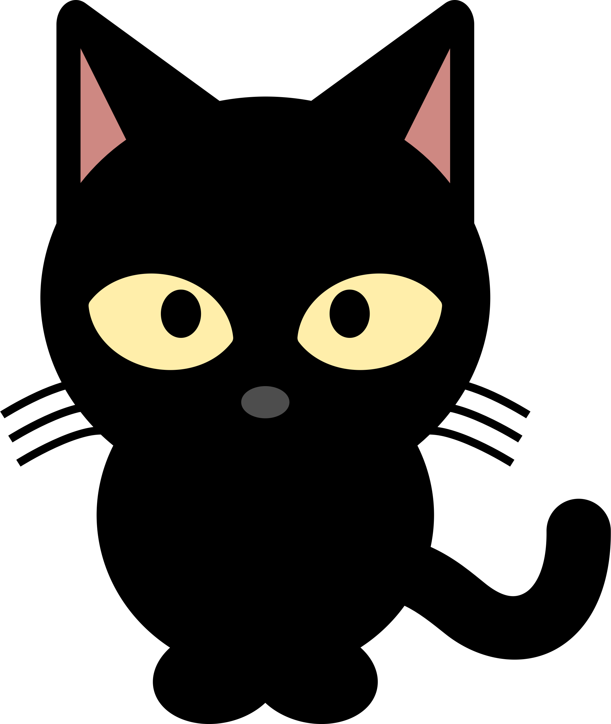 Peeking cat clipart clip transparent download Black Cat by libberry | Cricut Fun | Pinterest | Black cats, Cat and ... clip transparent download