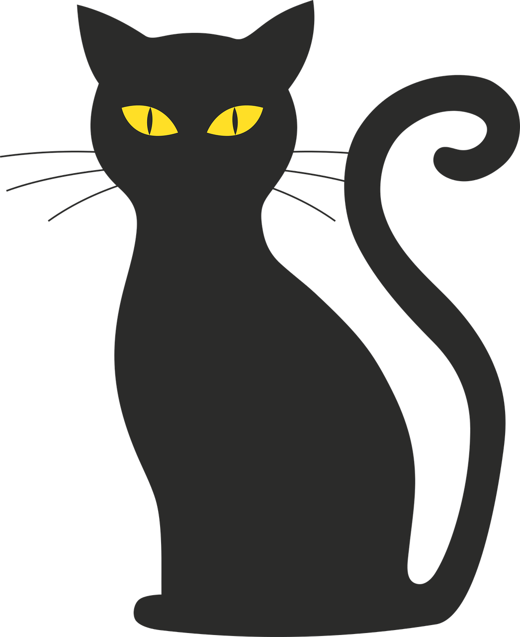 Alley cat clipart graphic royalty free stock Free Image on Pixabay - Cat, Halloween, Silhouette, Mieze ... graphic royalty free stock