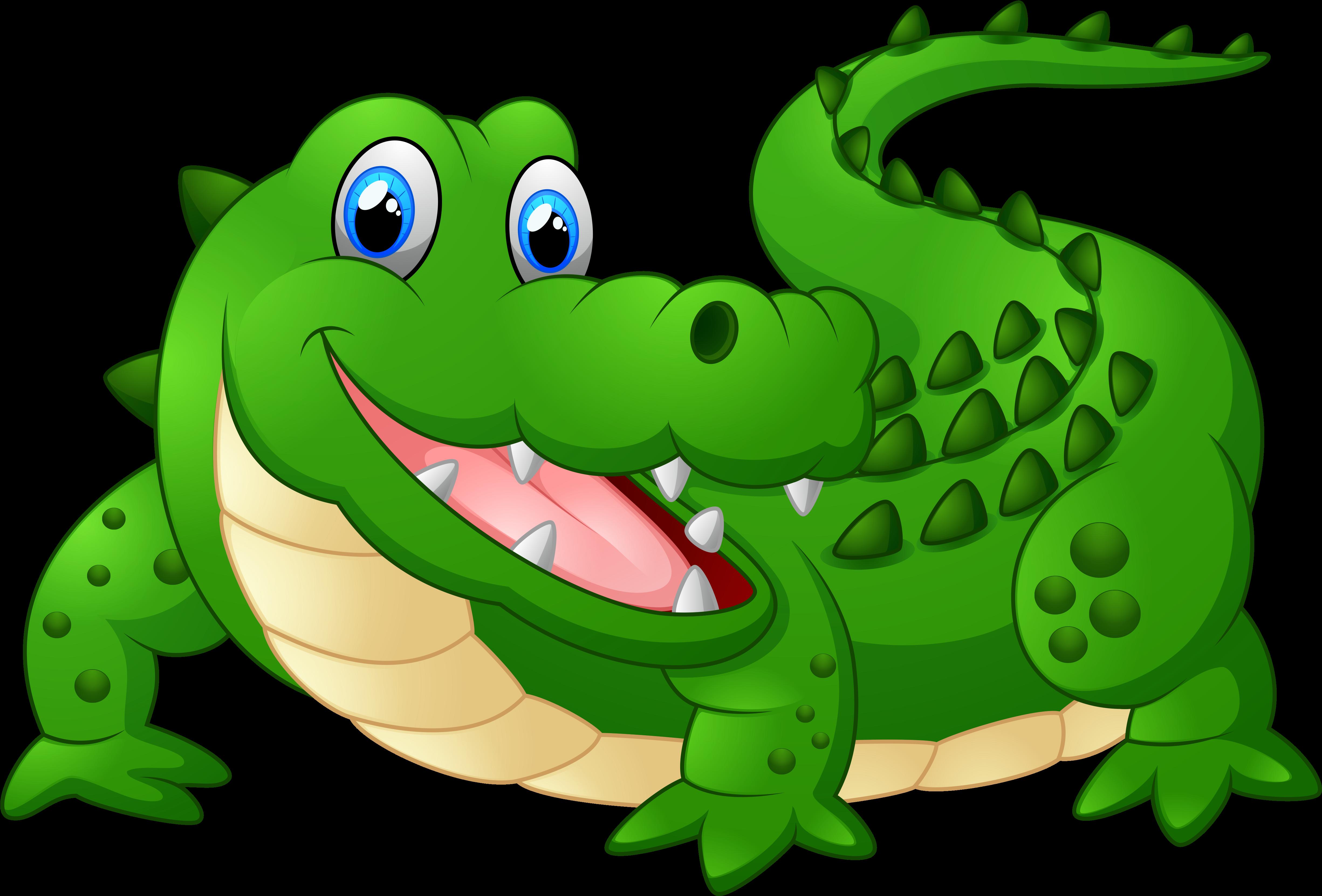 Alligator shopping clipart