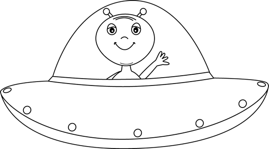Black ufo clipart image black and white download Black and White Alien in UFO | Space theme | Black, white, Ufo ... image black and white download