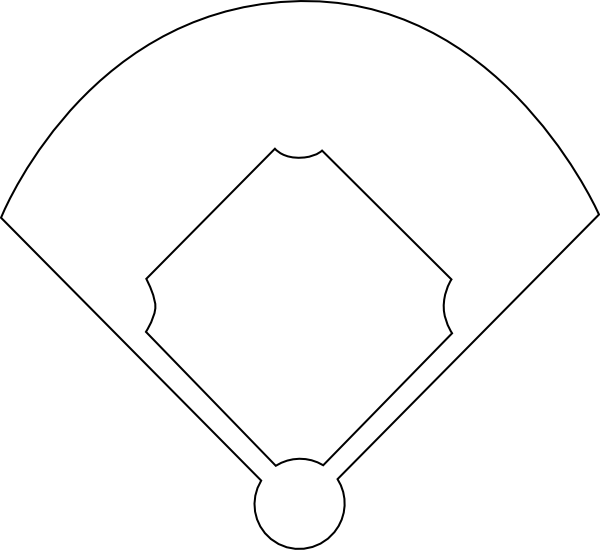 Baseball outline clipart banner royalty free stock Baseball Diamond Template Printable - ClipArt Best - ClipArt Best ... banner royalty free stock