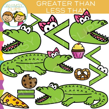 Greater than less than alligator clipart transparent Alligator Greater Than and LessThan Math Clip Art transparent