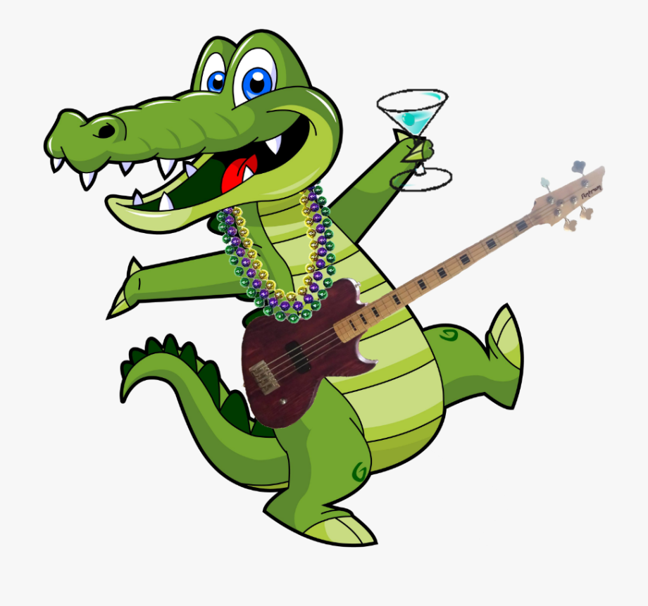 Alligator clipart music vector free Clipart Alligator Cooking - Alligator Music Notes Clipart ... vector free