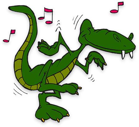 Alligator clipart music free stock Free Alligator Gifs - Animated Alligators - Clipart free stock