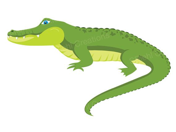 Alligator clipart music png library download Alligator Clipart | Crocodile Digital Download Art | Commercial Use ... png library download