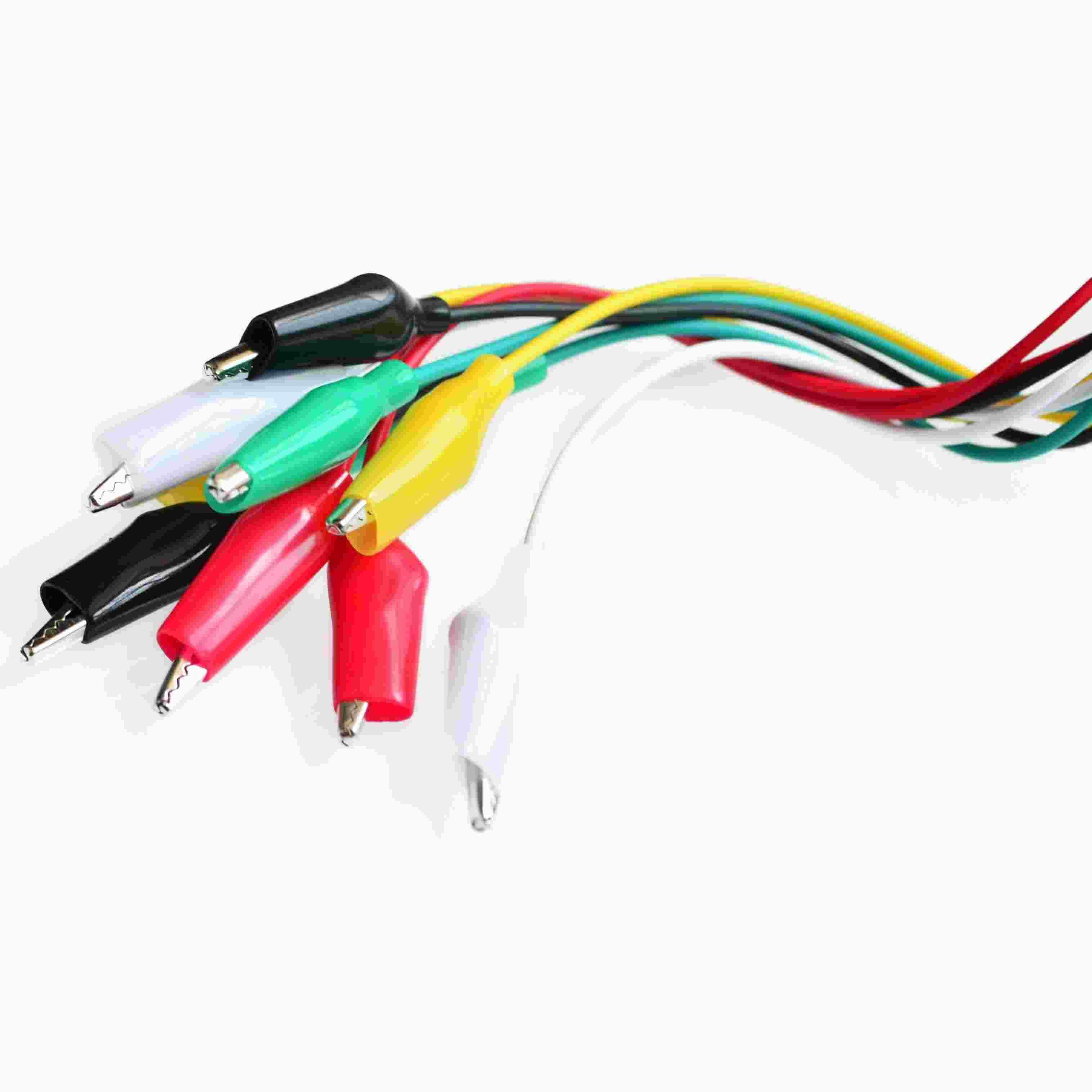 Alligator clips with wire clipart jpg free library 1set 10pcs Alligator-Clips Electrical DIY Test Leads Alligator Double-ended  Crocodile Clips Roach Clip Test Jumper Wire jpg free library