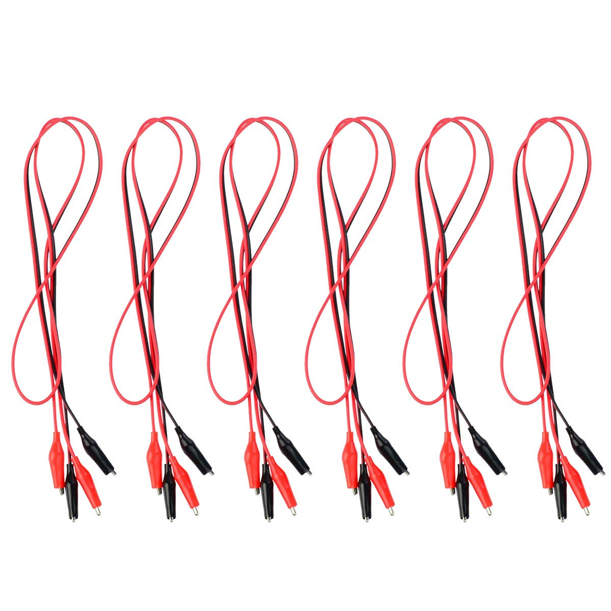 Alligator clips with wire clipart clipart library stock Wobe 6 Groups 1M Test Leads Set with Alligator Clips 39inches Double-ended  Jumper Wires Alligator Clamps Test Wires Crocodile Alligator Clip Wires ... clipart library stock