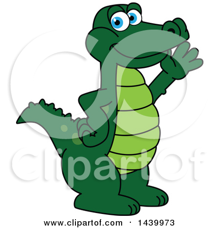Alligator easter egg clipart black and white download Clipart of a Gator School Mascot Character with an Easter Egg ... black and white download