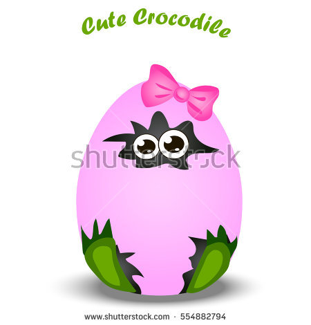 Alligator easter egg clipart banner free library Crocodile Egg Stock Images, Royalty-Free Images & Vectors ... banner free library