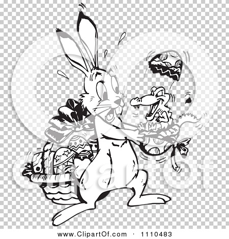 Alligator easter egg clipart svg freeuse library Clipart Black And White Easter Bunny Holding A Crocodile Hatching ... svg freeuse library