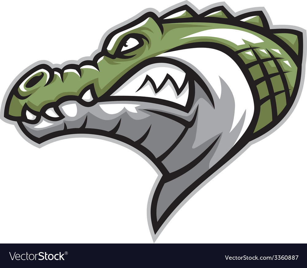 Alligator head clipart with a tongue sticking out jpg transparent library Crocodile head side vector image jpg transparent library