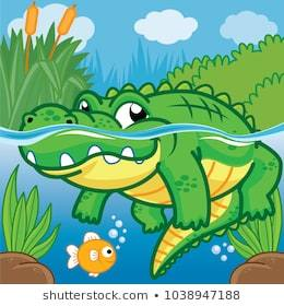 Alligator in water clipart freeuse stock Alligator in water clipart 6 » Clipart Portal freeuse stock