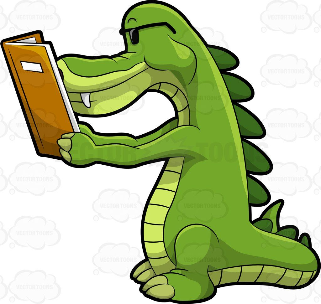 Alligator in water clipart graphic transparent download Arthur the alligator reading a book #cartoon #clipart #vector ... graphic transparent download