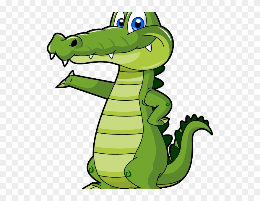 Alligator in water clipart picture black and white library Alligator - Cartoon Alligator Clipart - Clipart Png Download ... picture black and white library