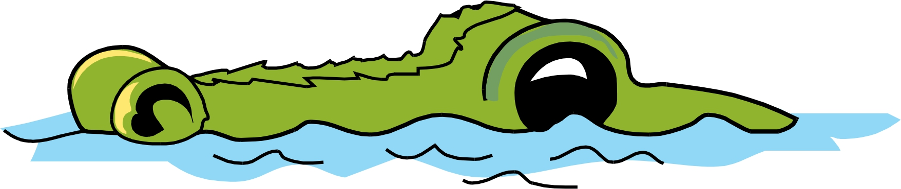Alligator in water clipart vector black and white Free Pictures Of Cartoon Alligators, Download Free Clip Art, Free ... vector black and white