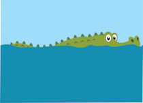 Alligator in water clipart png free stock Free Alligator Clipart - Clip Art Pictures - Graphics - Illustrations png free stock