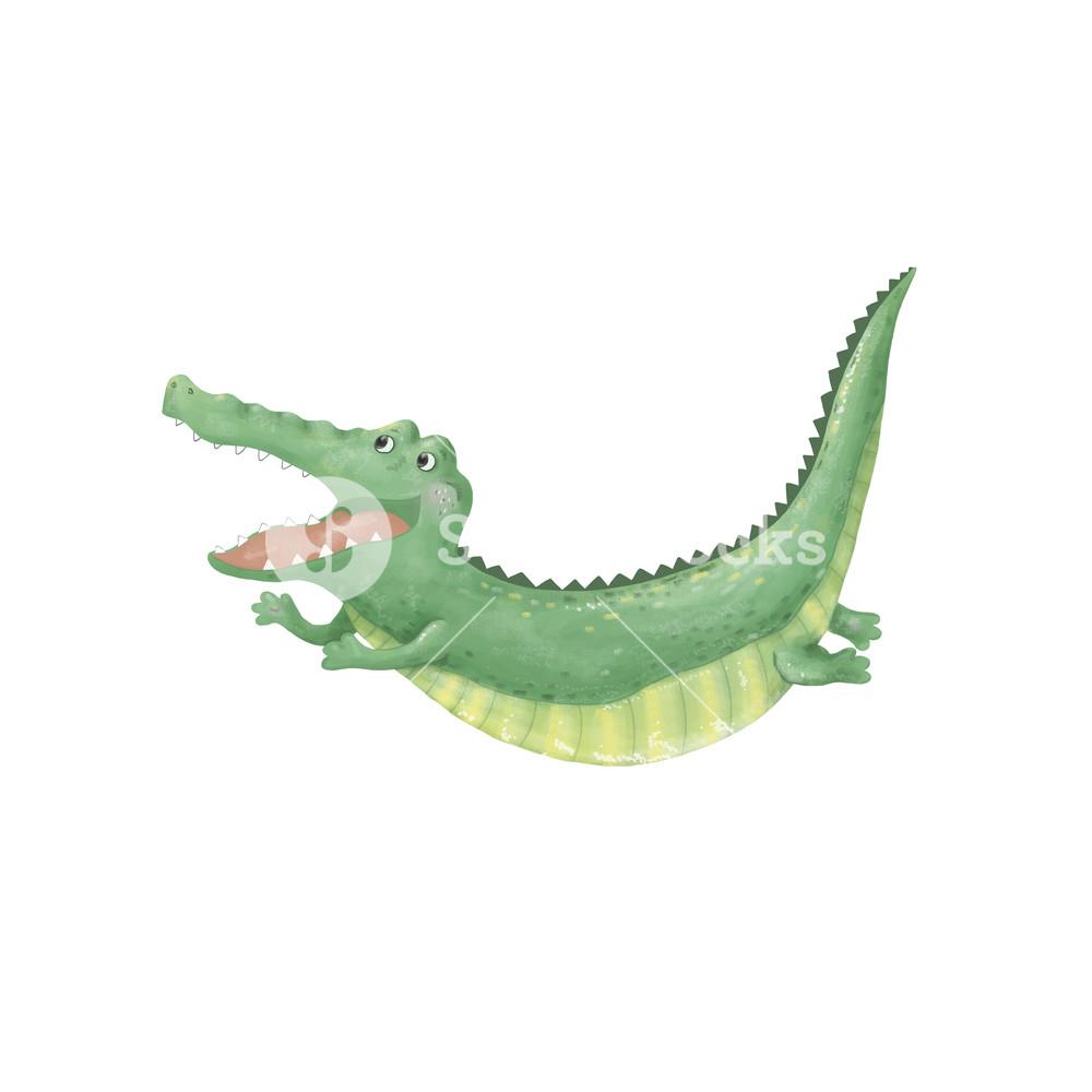 Alligator jumping clipart clipart royalty free crocodile digital clip art cute animal flying and jumping croc cute ... clipart royalty free