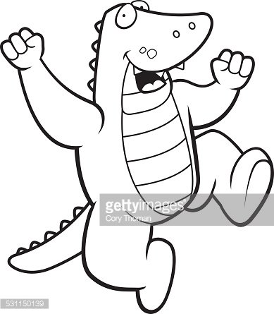 Alligator jumping clipart svg free stock Alligator Jumping premium clipart - ClipartLogo.com svg free stock