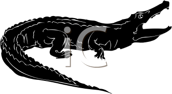 Alligator jumping clipart png of an alligator\