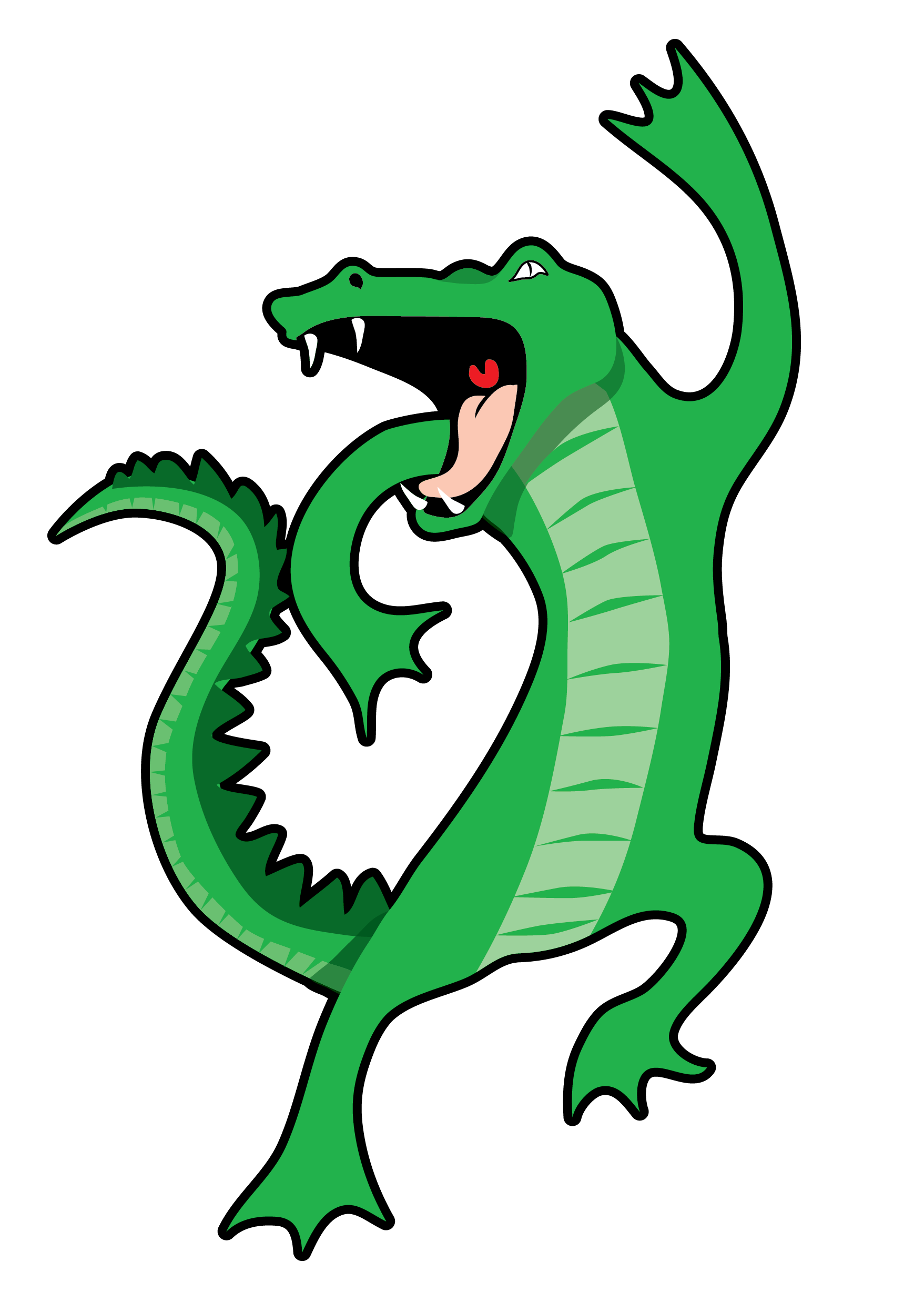 Alligator jumping clipart clipart free stock Singing Gator - New Orleans Free Vector Clip Art clipart free stock