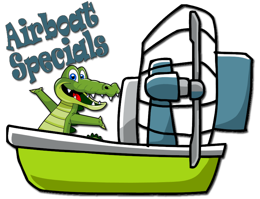 Alligator reading a book clipart image Black Hammock Adventures image