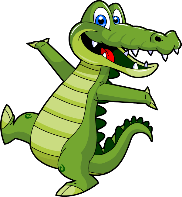 Alligator reading a book clipart image library download Pin by  image library download