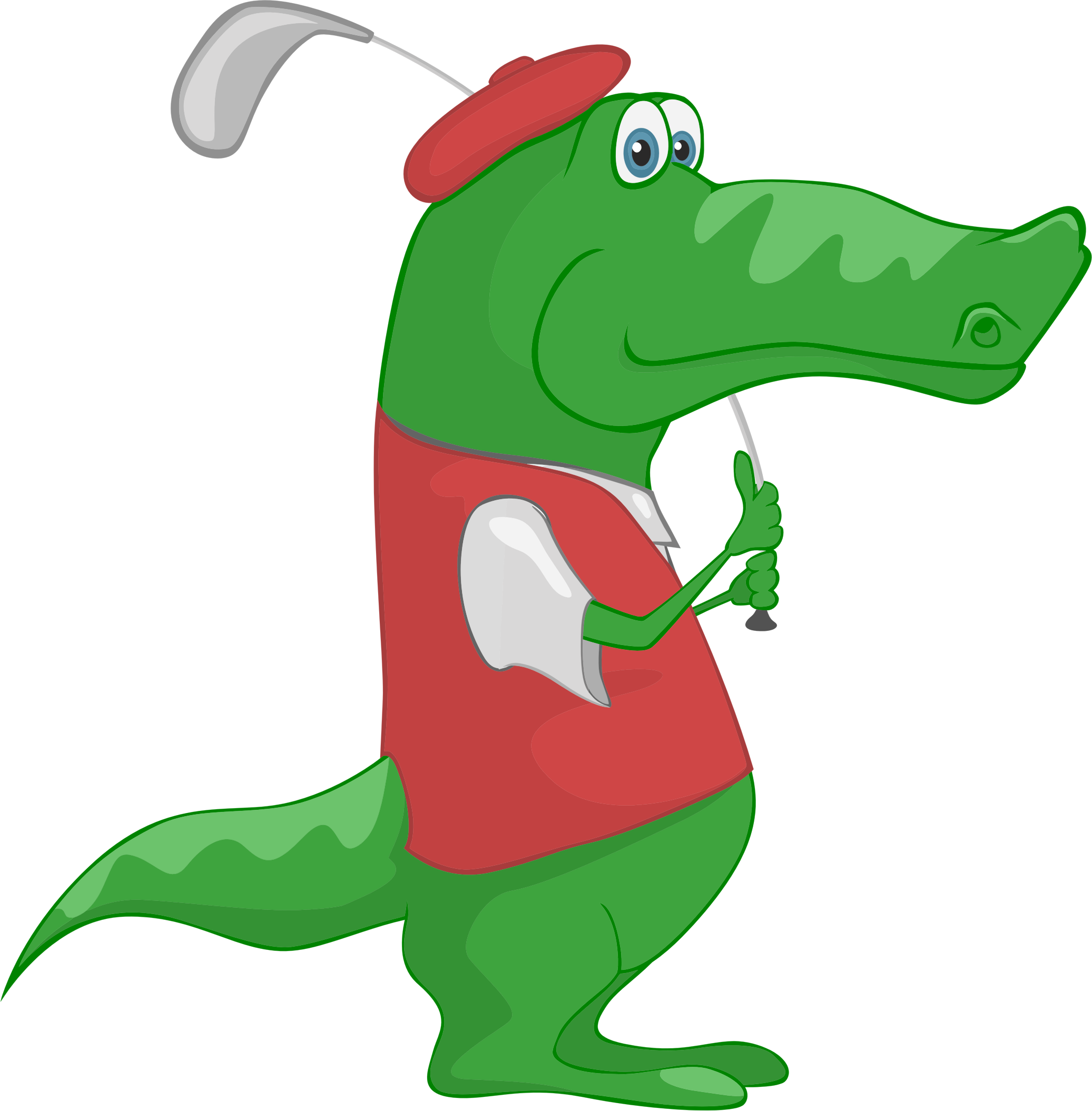 Alligator reading a book clipart picture download Crocodile Playing Golf Icons PNG - Free PNG and Icons Downloads picture download
