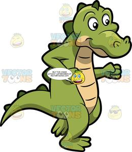 Alligator shopping clipart picture royalty free download A Dancing Alligator picture royalty free download