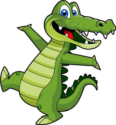 Alligator shopping clipart image royalty free Amazon.com: Cartoon Alligator Clip Art - Cute Alligator Mascot Stock ... image royalty free
