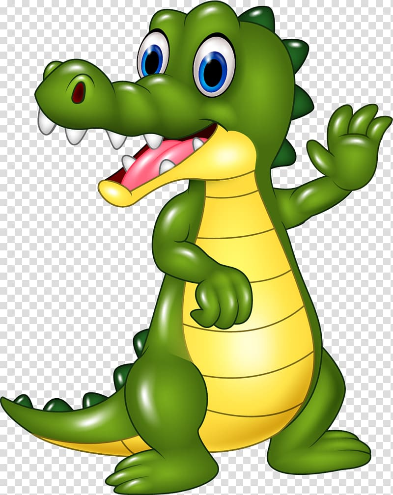 Alligator shopping clipart picture transparent stock Green and yellow dragon waving hand illustration, Crocodile ... picture transparent stock