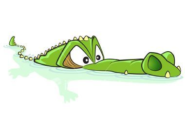 Alligator swimming clipart royalty free library Pin by Andrea Andrea on Clip art...   Crocodile cartoon, Crocodile ... royalty free library